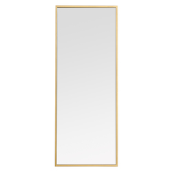 Elegant Decor MR41436BR Metal Frame Rectangle Mirror 14 Inch In Brass