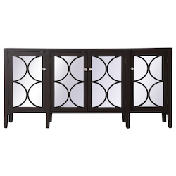 Elegant Decor MF82111DT 72 Inch Mirrored Credenza In Dark Walnut