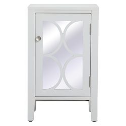 Elegant Decor MF82035WH 18 Inch Mirrored Cabinet In White