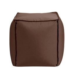 Square Pouf Seascape Chocolate