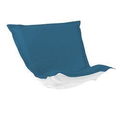 Puff Chair Cover Sunbrella Outdoor Seascape Turquoise