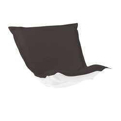Puff Chair Cover Sunbrella Outdoor Seascape Charcoal - Cover Only