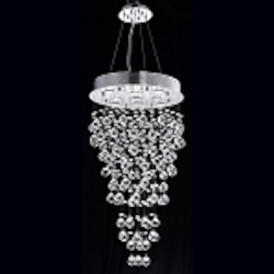 Drops of Rain Design 9-Light 36'' Round Pendant Chandelier withEuropean or Swarovski Crystals SKU# 10246