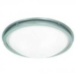 Access One Light Wht  Glass Bs  Bowl Flush Mount - 20457LED-BS/WHT