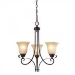 Elk Cornerstone Three Light Oil Rubbed Bronze Light Amber Glass Up Chandelier