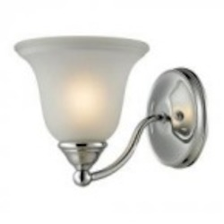 Elk Cornerstone One Light Etched Glass Chrome Bathroom Sconce