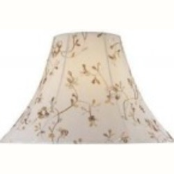 Lite Source Inc. Cream Jacquard Height Large Bell Shade