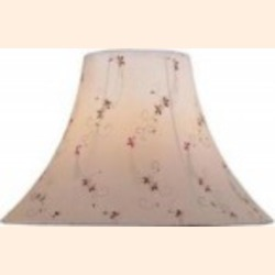 Lite Source Inc. Light Beige Jacquard Height Large Light Beige Jacquard Bell Shade