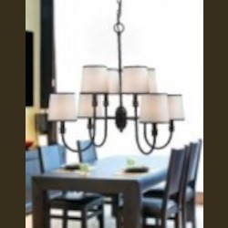 World Imports Eight Light Bronze Up Chandelier