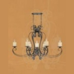 World Imports Seven Light Bronze Up Chandelier