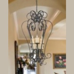 World Imports Six Light Bronze Open Frame Foyer Hall Fixture
