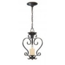 World Imports One Light Bronze Foyer Hall Pendant