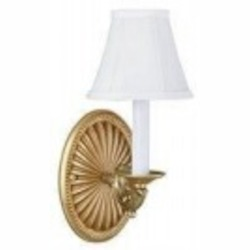 World Imports One Light Gold Wall Light