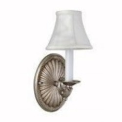 World Imports One Light Pewter Wall Light