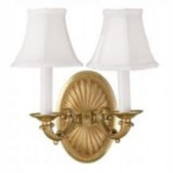 World Imports Two Light Gold Wall Light