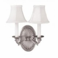 World Imports Two Light Pewter Wall Light