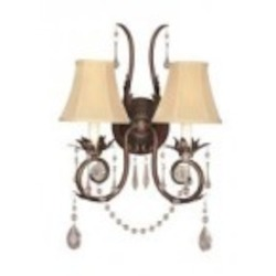 World Imports Two Light Bronze Wall Light