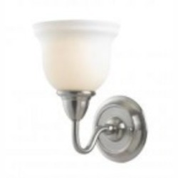 World Imports One Light Nickel Bathroom Sconce