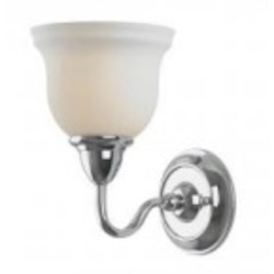World Imports One Light Chrome Bathroom Sconce