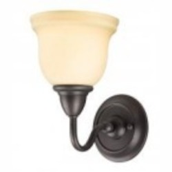 World Imports One Light Bronze Bathroom Sconce