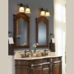 World Imports Two Light Bronze Vanity