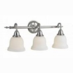 World Imports Three Light Nickel Vanity