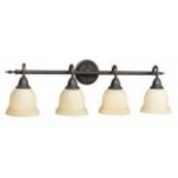 World Imports Four Light Bronze Vanity
