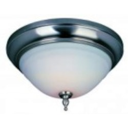 World Imports Two Light Nickel Bowl Flush Mount