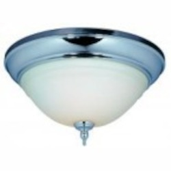 World Imports Two Light Chrome Bowl Flush Mount