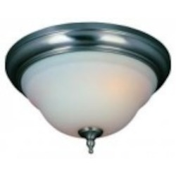 World Imports Three Light Nickel Bowl Flush Mount