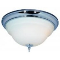 World Imports Three Light Chrome Bowl Flush Mount
