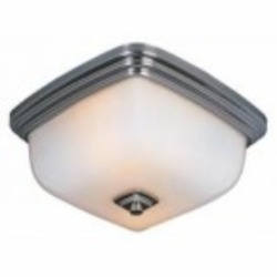 World Imports One Light Nickel Bowl Flush Mount