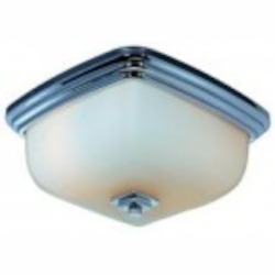 World Imports One Light Chrome Bowl Flush Mount