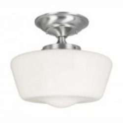 World Imports One Light Nickel Bowl Semi-Flush Mount