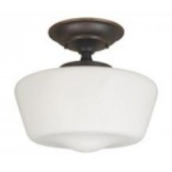 World Imports One Light Bronze Bowl Semi-Flush Mount