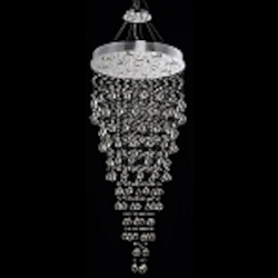 Drops of Rain Design 12-Light 60'' Round Pendant Chandelier Dressed with European or Swarovski Crystals SKU* 10249