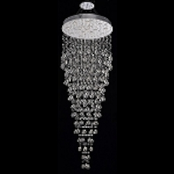 Drops of Rain Design 16-Light 80'' Round Pendant Chandelier Dressed with European or Swarovski Crystals SKU* 10250