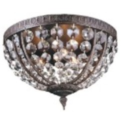 World Imports Three Light Bowl Flush Mount