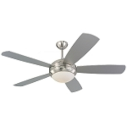 Monte Carlo One Light Steel Ceiling Fan