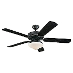 Monte Carlo Two Light Black Outdoor Fan
