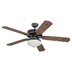 Monte Carlo Two Light Bronze Outdoor Fan