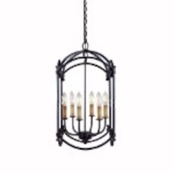 World Imports Six Light Outdoor Foyer Hall Fixture