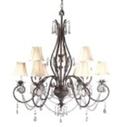 World Imports Nine Light Bronze Up Chandelier