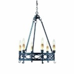 World Imports Six Light Up Chandelier