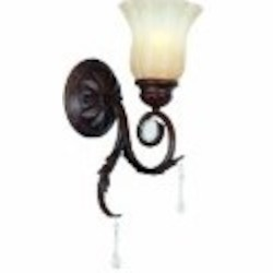 World Imports One Light Bronze Wall Light