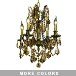 Chateau Design 4-Light 21'' Antique Brass or French Gold Mini Chandelier with European or 30% Lead Crystals SKU# 11221