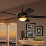 Monte Carlo One Light Bronze Ceiling Fan