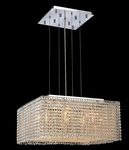 Krane Series 9-Light Chrome 22'' Square Box Pendant Chandelier with European, Swarovski , or Colored Crystals SKU# 11249