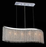 Krane Series 6-Light Chrome 46'' Wave Pendant Chandelier with European, Swarovski, or Colored Crystals SKU# 11252