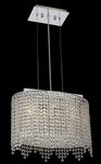 Krane Series 3-Light Chrome 18'' Cylindrical Oval Pendant Chandelier with European, 30% Lead , or Colored 30% Lead Crystals SKU# 11276